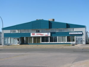 Commercial building and land for sale