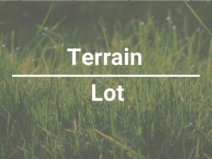 11262607 - Terrain vacant à vendre